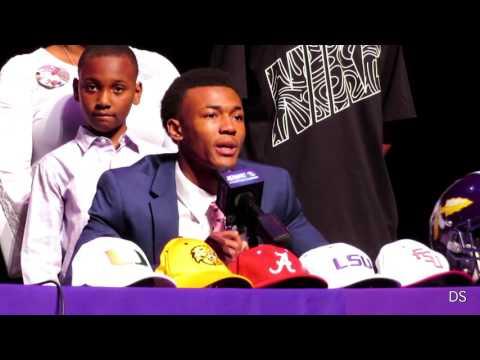 DeVonta Smith chooses Alabama, Elijah Walker signs w/LA Tech - Amite National Signing Day (Extended)