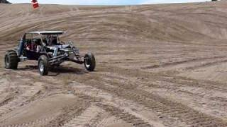 Supercharged RFR rail jumping at Little Sahara sand dunes, Utah Memorial Day 09