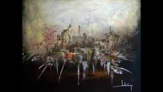 Toiles de Jean-Claude LANNES, Artiste Plasticien sur une Musique de Serge ANDRE, ...