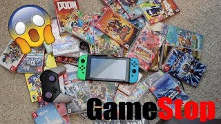 Trading My Whole Nintendo Switch Collection To Gamestop!!!!