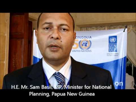 Mr. Byron Chan, MP, Minister for Mining, Papua New Guinea