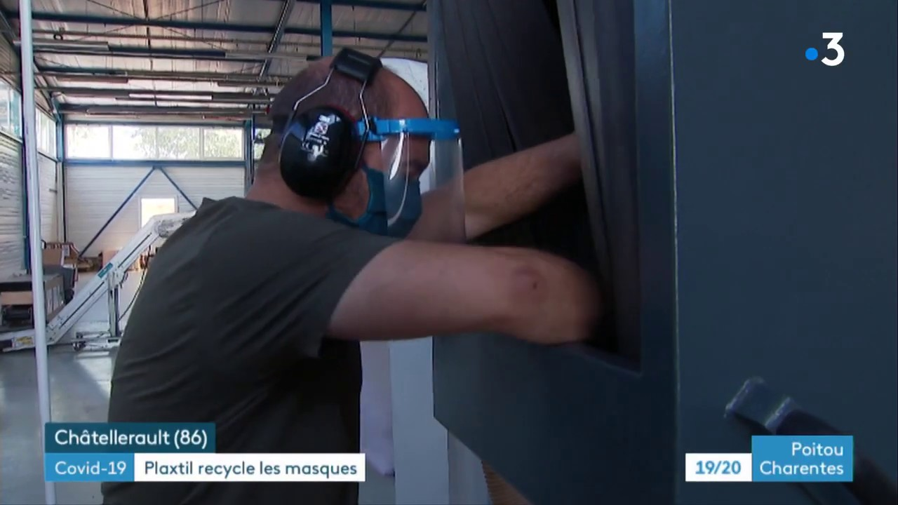 FRANCE 3 : PLAXTIL RECYCLE LES MASQUES USAGES