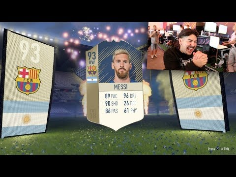 MESSI AND ICON IN A PACK! FIFA 18 PACK OPENING