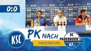 KSC-Pressekonferenz nach Paderborn