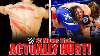 25 Wrestling Moves That ACTUALLY HURT! (Banned, Painful & Real WWE Moves & Slams)