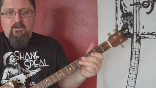 how to play cigar box guitar: licks on 3-string, open c (cgc) tuning