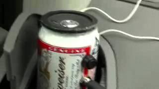自作Budweiserスモーキーアンプを車に搭載・MP3を再生(Transplants)