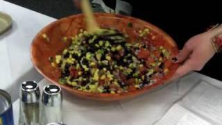 Tasty, Healthy, Black Bean Salsa Recipe Demo At Harper College