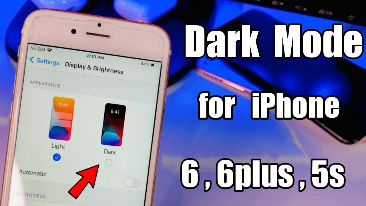 Dark Mode  for iPhone 6 Without Jailbreak