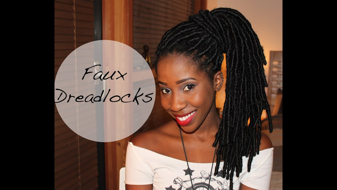 how to get faux dreadlocks tutorial   adannadavid