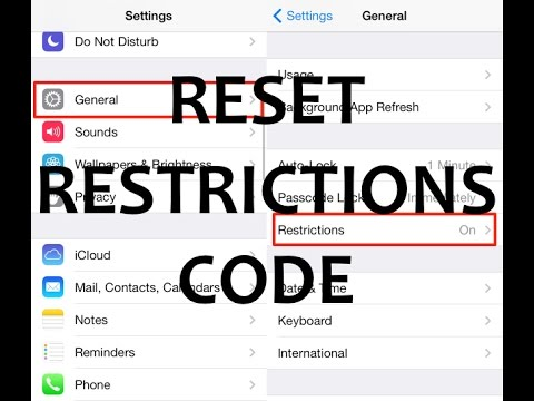 iphone restriction code how to reset unlock remove iphone restrictions code no 12240