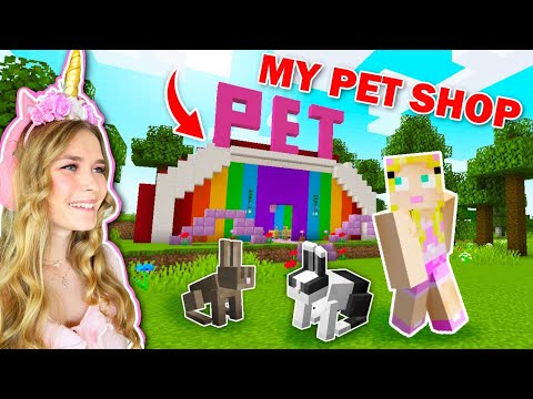 I Opened A PET SHOP In MINECRAFT!