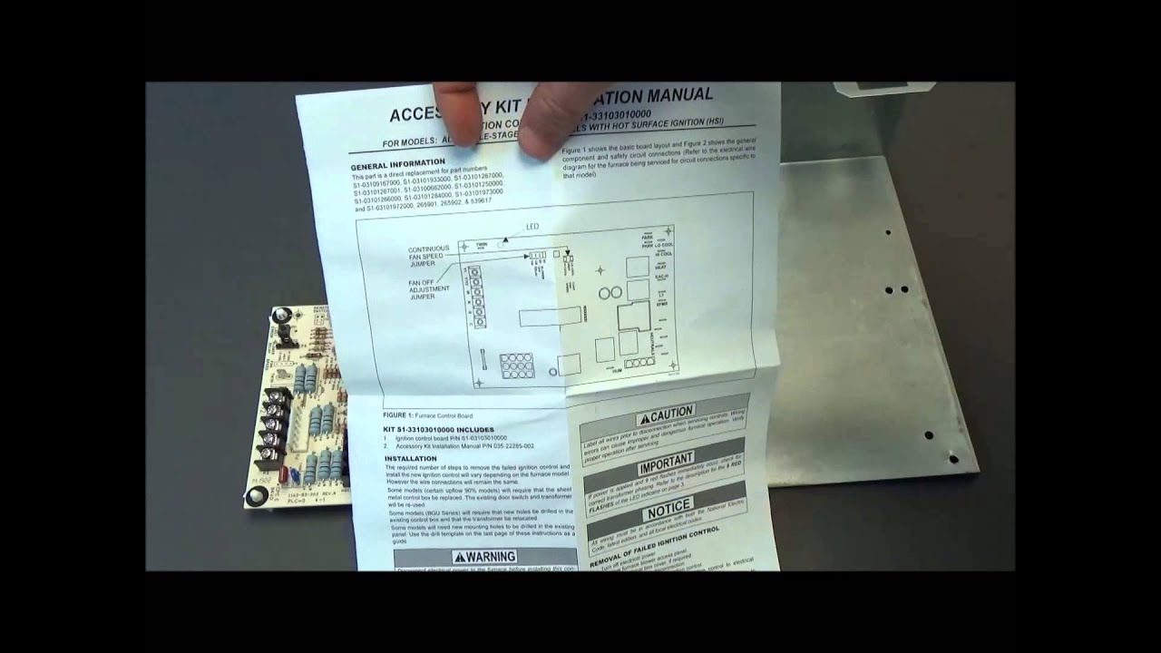 York Air Handler Wiring Diagram Of Sd 2 Motor For Conditioner S1 33103010000 Circuit Board Youtube On