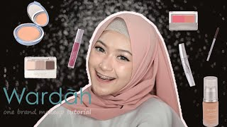 WARDAH ONE BRAND MAKEUP TUTORIAL | saritiw