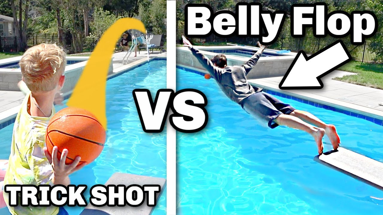 0.01% Trick Shot, Or Fall in The Pool Challenge