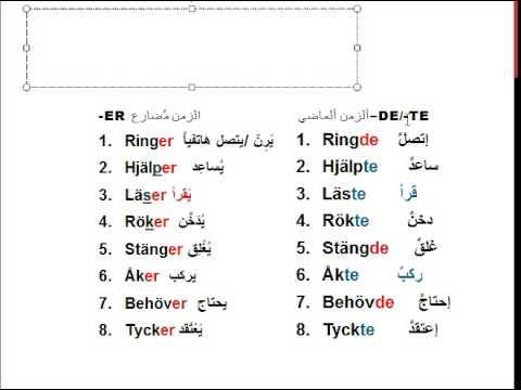 lär dig svenska från arabiska