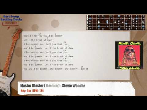 Master Blaster (Jammin') - Stevie Wonder Guitar Backing Track with chords and lyrics