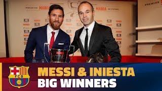 Lionel Messi & Andrés Iniesta, big winners at La Liga Gala
