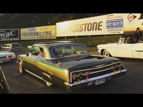Dread Lion Car Club Japan | Lowriders on racetrack