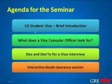 What to do in a US Student VISA Interview?