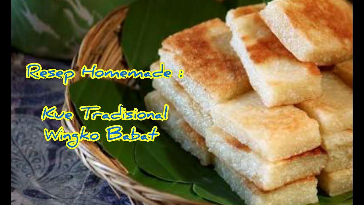Resep Kue Jadul Tradisional: Resep Dan Cara Membuat Kue Tradisional Wingko Babat Manis