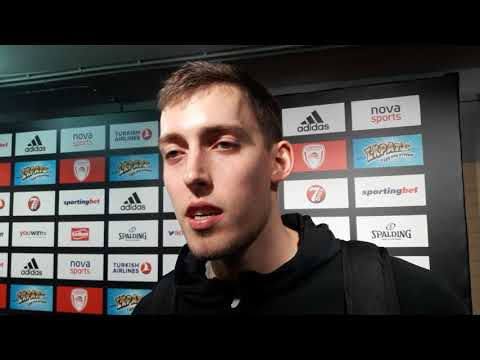 Kyle Wiltjer (Olympiacos) on Eurohoops after the win vs CSKA Moscow