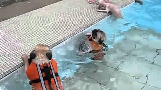 Pug Swimming ! ! !  So Funny ~~