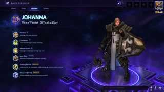 JOHANNA THE CRUSADER: Heroes of the Storm Immortal Skin build!
