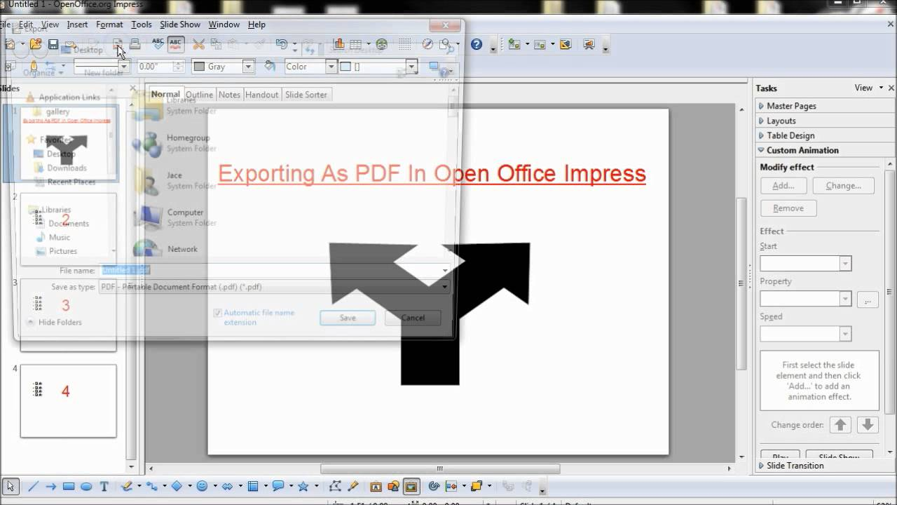 Open office impress: erstellung einer präsentation tutorial youtube.