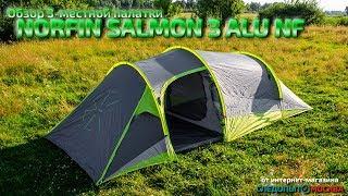 Обзор 3 х местной палатки Norfin SALMON 3 ALU NF каркас из алюминия