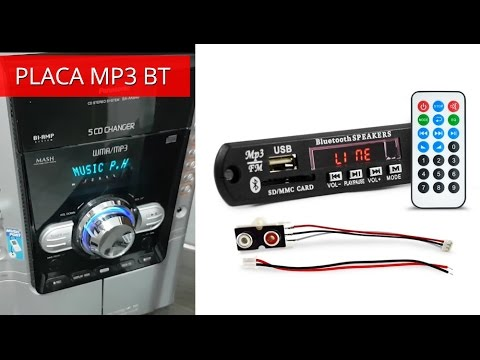 Placa Mp3 Player USB Bluetooth BT - Instalar no Micro System Radio CD Antigo