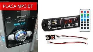 Placa Mp3 Player USB Bluetooth BT - Instalar no Micro System Radio CD Antigo