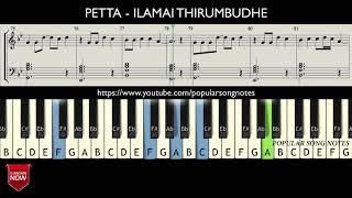 PETTA - ILAMAI THIRUMBUDHE (HOW TO PLAY) MUSIC NOTES