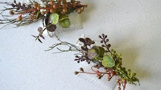 DIY Rustic Woodland Floral Hair Combs