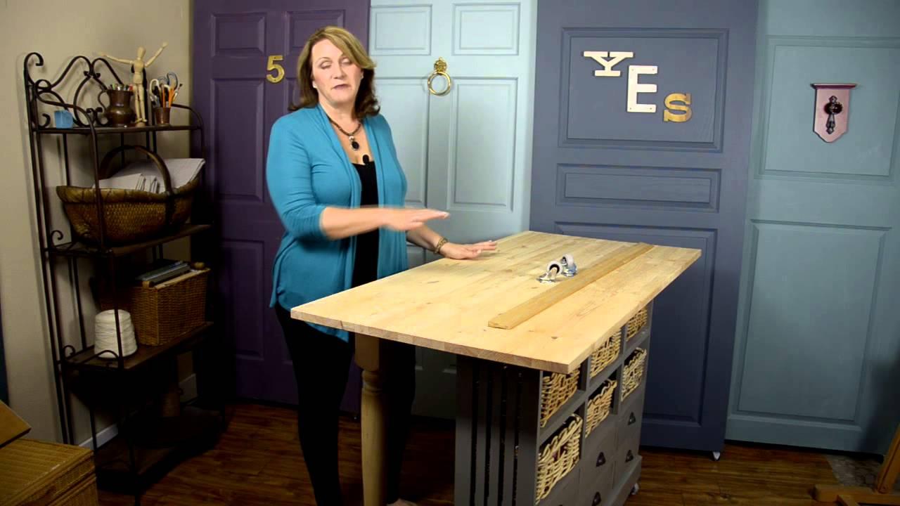 diy build a craft table youtube. Black Bedroom Furniture Sets. Home Design Ideas