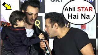 Salman Khan's CUTE Moment With Nephew Ahil Sharma At Loveratri Trailer Launch