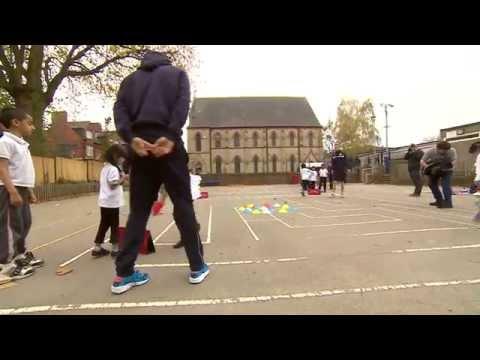 Players Visit Uplands Infant School