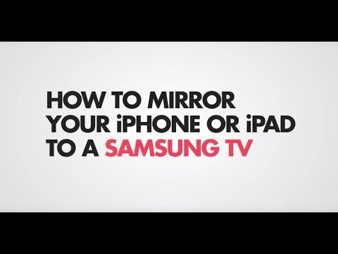Mirror IPhone Or IPad To Samsung TV (without Apple TV)