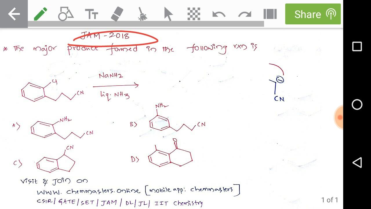 JAM-2018 Chemistry solved problem-logical thinking