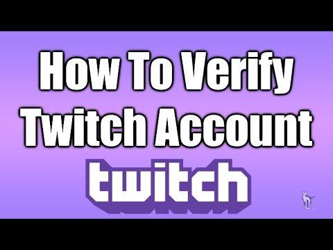how to verify twitch