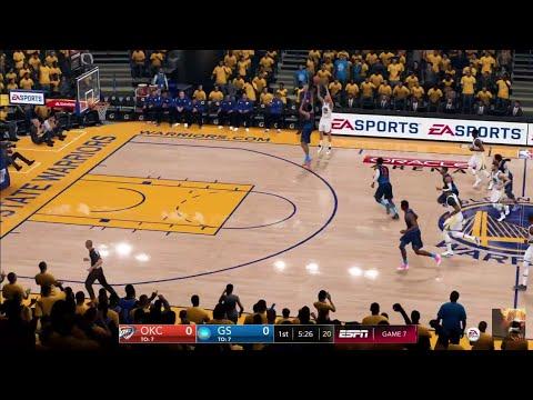 NBA Western Finals 2019 - Oklahoma City Thunder vs Golden State Warriors - NBA LIVE 19 PS4 PRO - HD