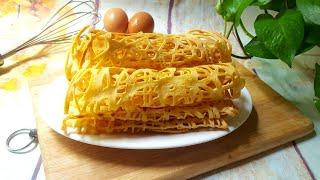 Cách Làm Bánh Trứng Cuộn Giòn Rụm Thơm Ngon Cho Bé | Góc Bếp Nhỏ