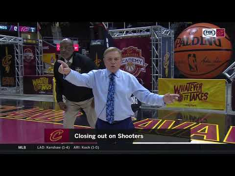 Mike Fratello, AC, And Campy Instructional Video: How To Close Out On Shooters | CAVS-RAPTORS