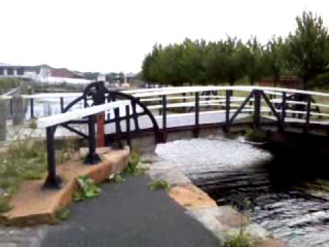 Walking Next to the Forth & Clyde Canal at North Canal Street in Glasgow, Scotland