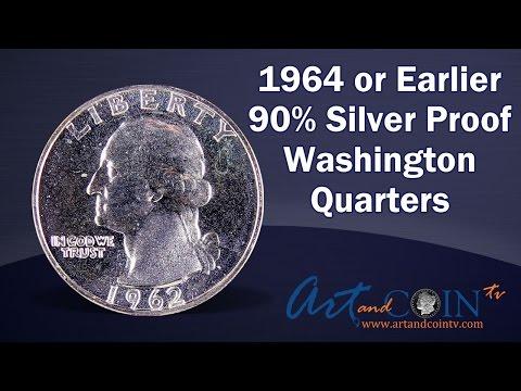 1964 or Earlier 90% Silver Proof Washington Quarter
