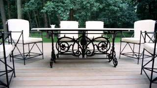 Wrought Iron Patio Furniture Jacksonville Cast Iron Furniture Detroit