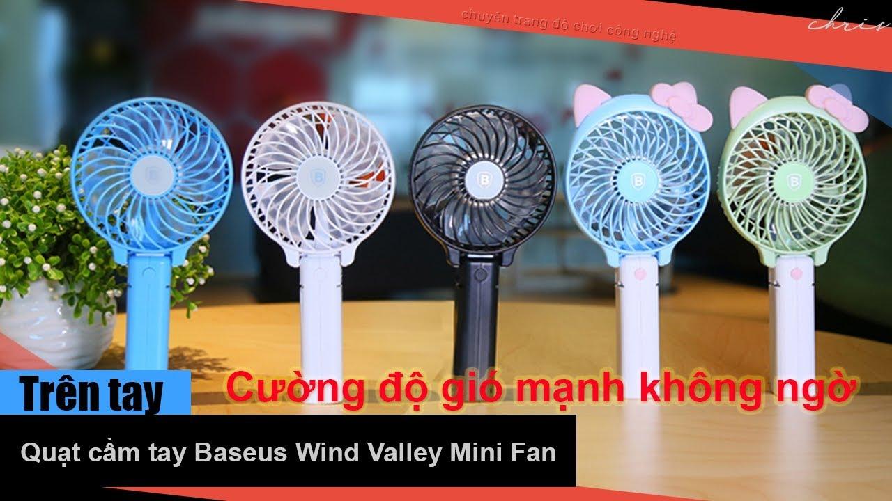 Trên tay quạt tích điện mini Baseus Wind Valley Mini Fan – Cường độ gió mạnh đến không ngờ