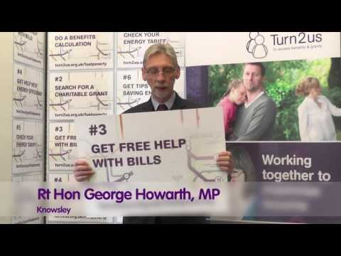 George Howarth, MP for Knowsley, supports Turn2us Fuel Poverty campaign