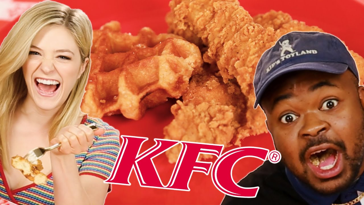 People Try KFC's New Chicken And Waffles