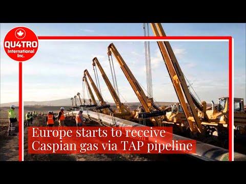 Europe starts to receive Caspian gas via TAP pipeline #LNG #Russia #Turkey #Greece #Italy #TAP